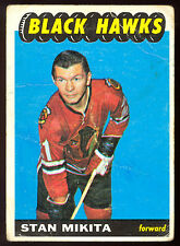1965 66 TOPPS HOCKEY #60 STAN MIKITA VG CHICAGO BLACK HAWKS CARD