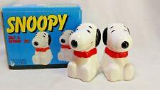 Benjamin & Medwin Vintage 1993 Peanuts Set Snoopy Salt Pepper Ceramic Shakers