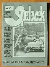 Stock Car Racing Programme Spedeworth Spedeweek No 21 June 1975 Wimbledon