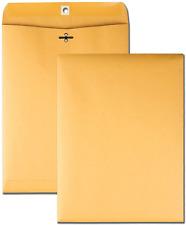 Business Envelopes 10x13 Kraft Clasp Manila Catalog Yellow Brown Flap 100pcs