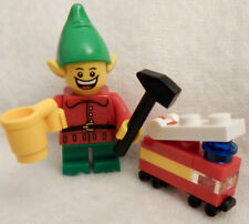 NEW LEGO CHRISTMAS ELF MINIFIG w/fire truck figure santa claus minifigure mug