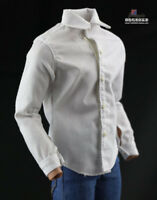 1/6 Fashion White Shirt Clothes Accessories For 12'' Male Female Figure Body