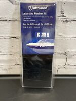 """Attwood Boat Registration Letter /& Number Kit Black 3/"""" Vinyl Letters /& Numbers"""