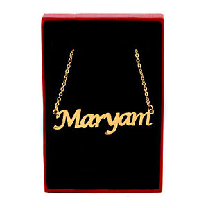 MARYAM Name Necklace Stainless Steel / 18ct Gold Plated | Identity Custom Made