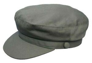 BRAND NEW MEN'S/LADIES  KHAKI  LINEN SUMMER BARGE CAP YARMOUTH