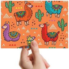 "Colourful Llama Cactus Cartoon Small Photograph 6""x4"" Art Print Photo Gift #8347"