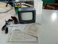 TELEVISORE E RADIO PORTATILE PER AUTO VINTAGE SONOKO TVR 5070 B/N