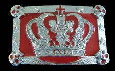 RED SKULLS KING QUEEN ROYAL CROWN ROYALTY BELT BUCKLE BOUCLE DE CEINTURE