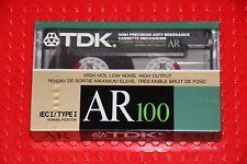 TDK  AR   100     1988          BLANK CASSETTE TAPE (1)   (SEALED)