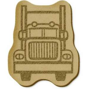 6 x 'Truck' MDF Craft Embellishments (EB00020905)