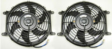 "2 X 10"" Slim Universal Radiator Fans Push Pull Cooling Fans + Mounting Tabs"