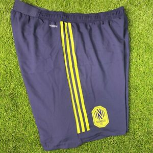 Adidas Nashville SC Authentic Soccer Shorts Blue Mens XL NEW $60