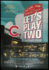 """PEARL JAM LET'S PLAY TWO Original Music Movie Poster 39x55"""" LIVE WRIGLEY FIELD"""