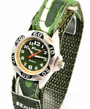 New Ravel Boys Kids Army Green Camouflage Watch Sporty Strap Free UK P&P NEW
