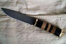 "Russian Hunting knife ""Sterkh-2"" sheath Kizlyar knives (Damascus steel, Walnut)"