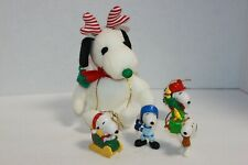 Vintage Lot 5 Peanuts Snoopy Descorations