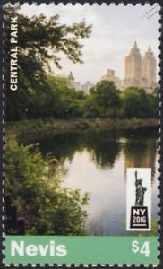 CENTRAL PARK Manhattan New York City Stamp (2016 Nevis)