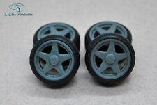 1/24 wheels 15 inch AZEV A with stance tires for Tamiya Aoshima Hasegawa