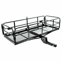 Universal Folding Fold Hitch-Mount Cargo Carrier Mounted Basket Luggage Rack