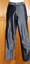 Vintage Frederick's Hollywood Black Stretch Satin Glossy MOD Disco Pants 7