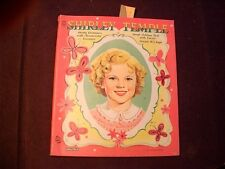 Vintage 1950's Saalfield Shirley Temple Cut Out Paper Dolls Book