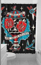 Sourpuss Adventure Hot Air Balloon Travel Peggy Sue Swallow Shower Curtain