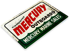 TIN SIGN Mercury Outboard Motors Retro Boat Motor Engine Metal Sign Decor C608