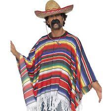 Adulto Poncho Mexicano Vaquero BANDIT VAQUERO DISFRAZ