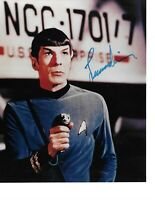 Rare Leonard Nimoy Hand Signed In Person Autographed Star Trek Spock W/ COA WoW