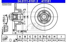 1x ATE Disco de Freno Trasero Pleno 300mm 24.0111-0181.2