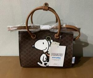 Snoopy bag shoulder back Shimamura collaboration Macadam pattern limited edition
