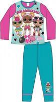 LOL Surprise Pyjamas Childrens Kids Girls Blue Pink PJs Age 4-10 Years