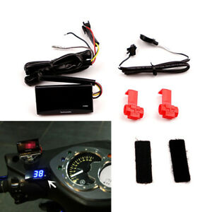 Digital Blue LED Race Motorcycle Tachometer 0-20000 RPM Engine Rev Monitor Gauge
