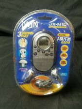 JX M10 Am/Fm Portable Radio Built in speaker and alarm clock. 3 way carrying sys