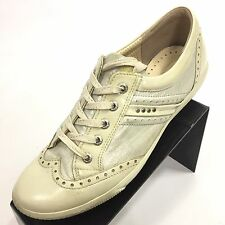 ECCO Women's Patent Leather Multicolor Wingtip Golf Shoes Oxfords 8 / 39