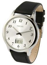 Elegante Herren Funkuhr (deutsches Funkwerk) Armbanduhr Edelstahl  964.6118