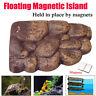 Reptile Aquarium Tank Turtle Magnetic Dock Basking Terrace Platform Island 2Size