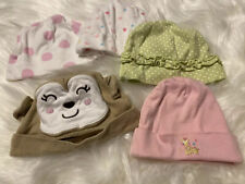 Lot Of 5 Girl Hats Bonnets Colorful