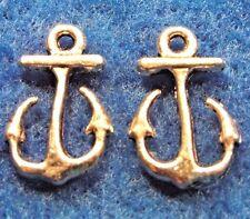 100Pcs. WHOLESALE Tibetan Silver Small ANCHOR Cute Charms Earring Drops Q0391
