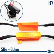 X2 Filtri RESISTENZE Corazzate CANBUS 50W-8 OHM per Lampade Led H7 SPEGNI SPIA