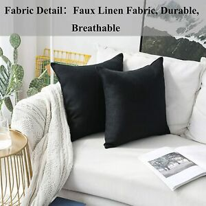 Home Brilliant Decorative Pillows Covers Lined Linen Cushion Covers for Bed Couc