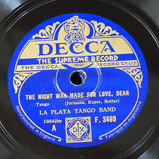 78rpm LA PLATA TANGO BAND night was made for love / when anybody plays or sings