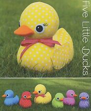 FIVE LITTLE DUCKS - Sewing Craft PATTERN - Soft Toy Felt Doll Bear Rabbit Bird