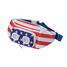 THE #1 American Flag Fannypack with Speakers (US Flag)