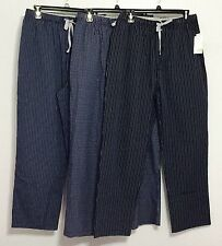 Michael Kors Pajama Sleep & Lounge Pants Blue~plaid&striped 100% Cotton M L XL