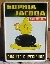 """1958 French Egg 10"""" X 14"""" Advertising Sign Painted On Tin Sale Price"""