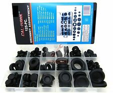 125Pc Rubber Grommet Assortment Firewall Hole Plug Set Electrical Wire Gasket