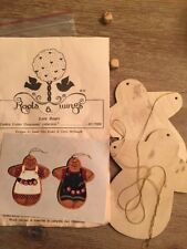 Roots & Wings Love Bears Wood Cookie Cutter Ornaments 1987