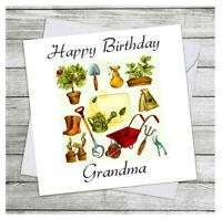Personalised Handmade Cat Birthday Card Male Female Grandad Grandma ANY AGE