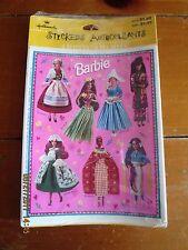 Hallmark Stickers Autocollants Barbie dolls of the world
